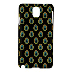 Peacock Inspired Background Samsung Galaxy Note 3 N9005 Hardshell Case
