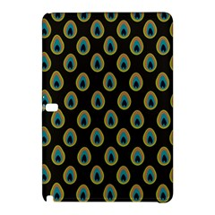 Peacock Inspired Background Samsung Galaxy Tab Pro 10 1 Hardshell Case by Simbadda