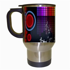 Music Pattern Travel Mugs (white) by Simbadda