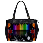 Music Pattern Office Handbags Front