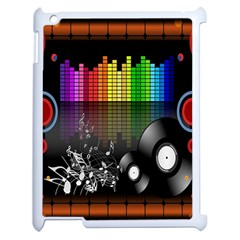 Music Pattern Apple Ipad 2 Case (white) by Simbadda