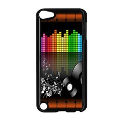 Music Pattern Apple Ipod Touch 5 Case (black) by Simbadda