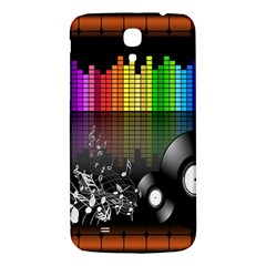 Music Pattern Samsung Galaxy Mega I9200 Hardshell Back Case by Simbadda