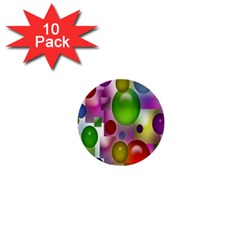 Colorful Bubbles Squares Background 1  Mini Buttons (10 Pack)  by Simbadda