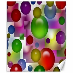 Colorful Bubbles Squares Background Canvas 8  X 10  by Simbadda