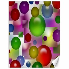 Colorful Bubbles Squares Background Canvas 18  X 24   by Simbadda
