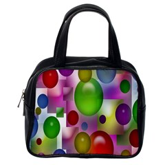 Colorful Bubbles Squares Background Classic Handbags (one Side) by Simbadda