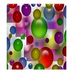 Colorful Bubbles Squares Background Shower Curtain 66  X 72  (large)  by Simbadda