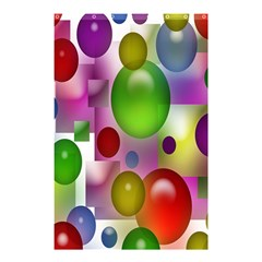 Colorful Bubbles Squares Background Shower Curtain 48  X 72  (small)  by Simbadda