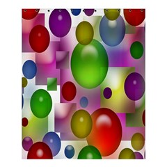 Colorful Bubbles Squares Background Shower Curtain 60  X 72  (medium)  by Simbadda