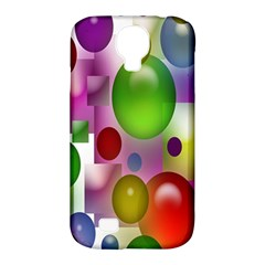 Colorful Bubbles Squares Background Samsung Galaxy S4 Classic Hardshell Case (pc+silicone) by Simbadda
