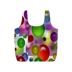 Colorful Bubbles Squares Background Full Print Recycle Bags (s)  by Simbadda