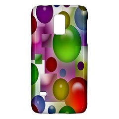 Colorful Bubbles Squares Background Galaxy S5 Mini