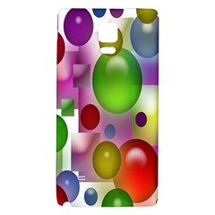 Colorful Bubbles Squares Background Galaxy Note 4 Back Case by Simbadda