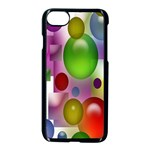 Colorful Bubbles Squares Background Apple iPhone 7 Seamless Case (Black) Front