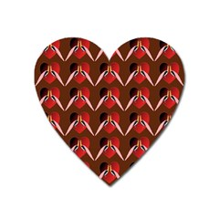 Peacocks Bird Pattern Heart Magnet by Simbadda