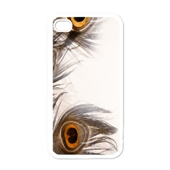 Peacock Feathery Background Apple Iphone 4 Case (white)