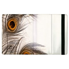 Peacock Feathery Background Apple Ipad 2 Flip Case