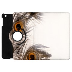 Peacock Feathery Background Apple Ipad Mini Flip 360 Case by Simbadda