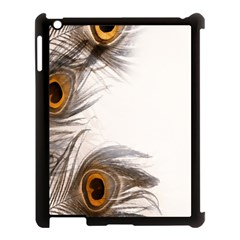 Peacock Feathery Background Apple Ipad 3/4 Case (black)