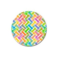 Abstract Pattern Colorful Wallpaper Magnet 3  (round)