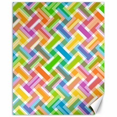 Abstract Pattern Colorful Wallpaper Canvas 11  X 14   by Simbadda