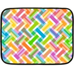 Abstract Pattern Colorful Wallpaper Double Sided Fleece Blanket (mini)  by Simbadda