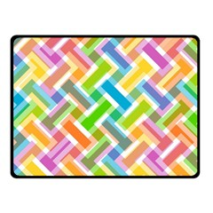 Abstract Pattern Colorful Wallpaper Fleece Blanket (small) by Simbadda