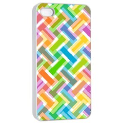 Abstract Pattern Colorful Wallpaper Apple Iphone 4/4s Seamless Case (white) by Simbadda