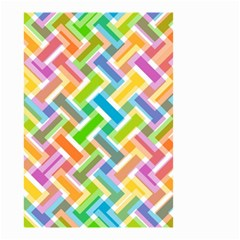Abstract Pattern Colorful Wallpaper Small Garden Flag (two Sides) by Simbadda