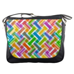 Abstract Pattern Colorful Wallpaper Messenger Bags by Simbadda
