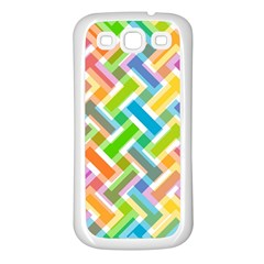 Abstract Pattern Colorful Wallpaper Samsung Galaxy S3 Back Case (white)