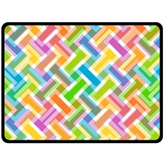 Abstract Pattern Colorful Wallpaper Double Sided Fleece Blanket (large)  by Simbadda