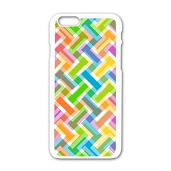 Abstract Pattern Colorful Wallpaper Apple Iphone 6/6s White Enamel Case by Simbadda