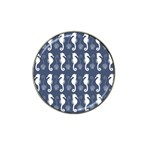 Seahorse And Shell Pattern Hat Clip Ball Marker (10 pack) Front