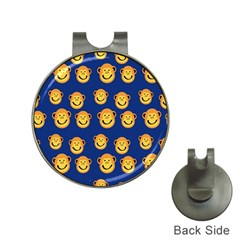 Monkeys Seamless Pattern Hat Clips With Golf Markers by Simbadda