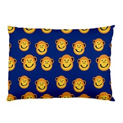 Monkeys Seamless Pattern Pillow Case by Simbadda