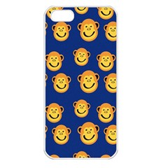 Monkeys Seamless Pattern Apple Iphone 5 Seamless Case (white)