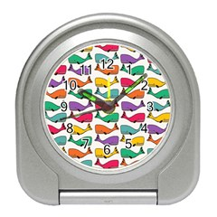 Small Rainbow Whales Travel Alarm Clocks by Simbadda
