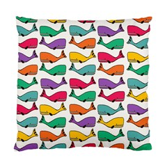 Small Rainbow Whales Standard Cushion Case (one Side) by Simbadda