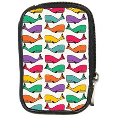 Small Rainbow Whales Compact Camera Cases by Simbadda