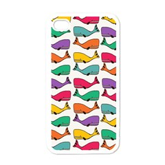 Small Rainbow Whales Apple Iphone 4 Case (white) by Simbadda