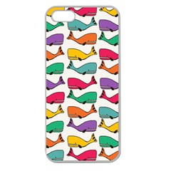 Small Rainbow Whales Apple Seamless Iphone 5 Case (clear)
