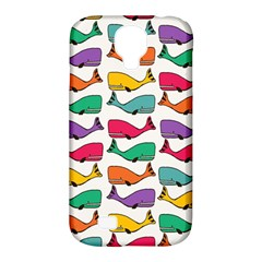 Small Rainbow Whales Samsung Galaxy S4 Classic Hardshell Case (pc+silicone) by Simbadda