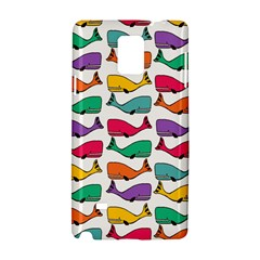 Small Rainbow Whales Samsung Galaxy Note 4 Hardshell Case
