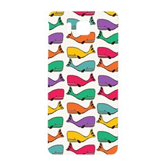 Small Rainbow Whales Samsung Galaxy Alpha Hardshell Back Case by Simbadda