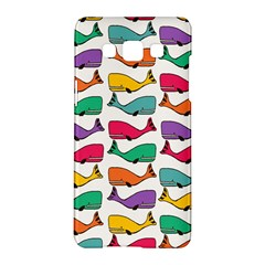 Small Rainbow Whales Samsung Galaxy A5 Hardshell Case