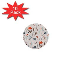 Seamless Floral Patterns  1  Mini Buttons (10 Pack)  by TastefulDesigns