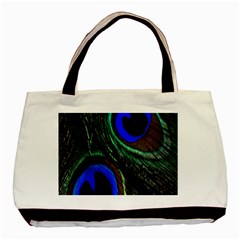 Peacock Feather Basic Tote Bag (two Sides) by Simbadda