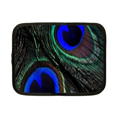 Peacock Feather Netbook Case (small)  by Simbadda